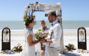 Hochzeitspaar-Strand-Florida
